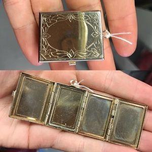 Vintage Mini Locket 4 Photo Holder Frames